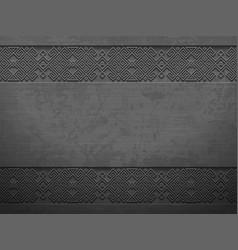 Grunge rough dark metal background vector