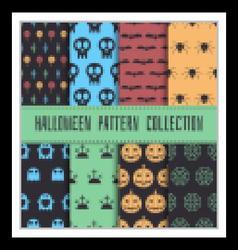 Halloween seamless pattern set vector