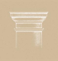 hand drawn capital tuscan order vector image