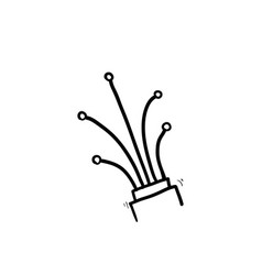 Hand drawn fiber optic cable icon doodle vector