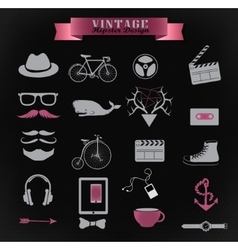 Hipster style elements and icons vector