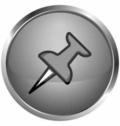 icon needle spikes vector image
