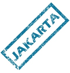 Jakarta rubber stamp vector