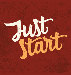 Just star slogan modern calligraphy vector