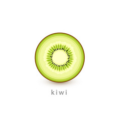 kiwi simple icon vegan logo template minimalism vector image