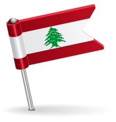 Lebanese pin icon flag vector image