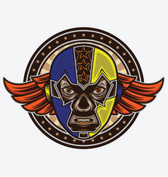 Mask lucha libre vintage design vector