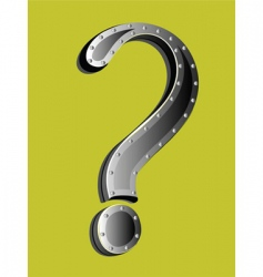 metallic question mark vector image