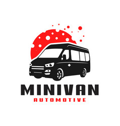 minivan transport car logo vector image