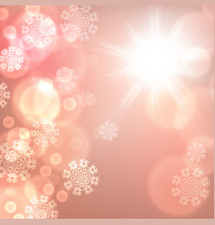 Orange christmas lights background vector