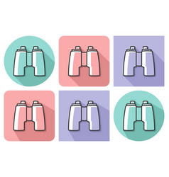 outlined icon binoculars with parallel and not vector image