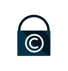 Padlock secure property intellectual copyright vector