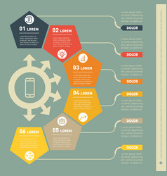 part of the report with icons set infographic vector image