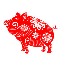 pig plump and cheerful vector image