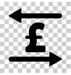 Pound transactions icon vector