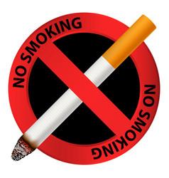 public no smoking icon realistic style vector image