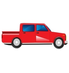 Red car with basket vector image