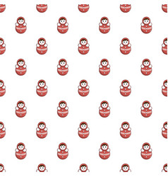 red tumbler doll pattern vector image