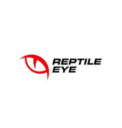 reptile eye logo icon vector image