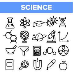 science line icon set analysis graphic vector image