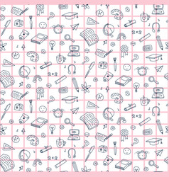 seamless pattern with education back to vector image
