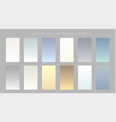 Set subtle gradients design vector