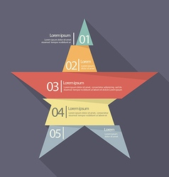 Step design of five part star infographic vector image