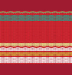 striped knitting background vector image
