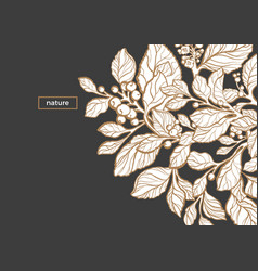 template black white nature vector image
