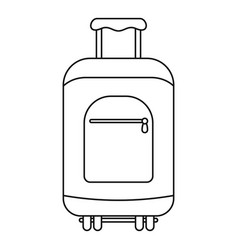 Travel summer bag icon outline style vector
