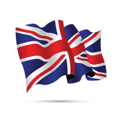 united kingdom waving flag vector image