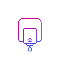 Wall dispenser line icon on white vector