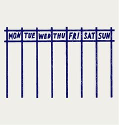 Weekly calendar vector