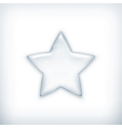 White star vector