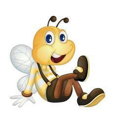 Bee sitting vector image vector image
