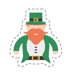 cartoon st patricks day leprechaun traditional vector image