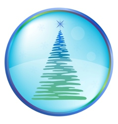 christmas furtree buttons vector image
