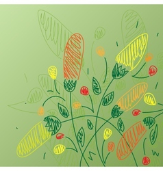 Draw flower background vector image