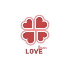 Heart Symbol Isolated On White Background - vector image