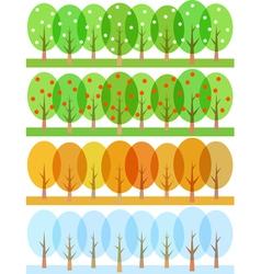 seasons 1 vector image vector image