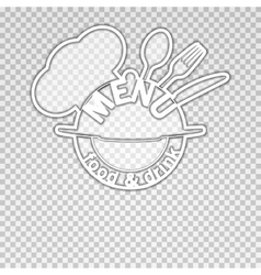 food and drink menu isolated object vector image vector image