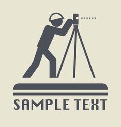 Land surveyor icon vector