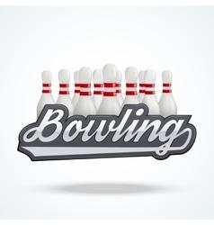 Premium Bowling labels vector image vector image