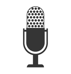 Radio microphone theme design isolated icon vector image