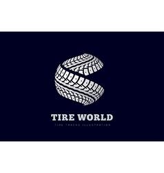 Tire Track brand invert vector image
