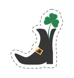 cartoon st patricks day boot clover vector image vector image