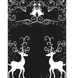 Christmas Reindeer background vector image vector image