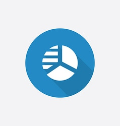 circle diagram Flat Blue Simple Icon with long vector image