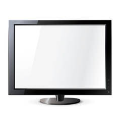 Computer display isolated on white Frontal view vector image