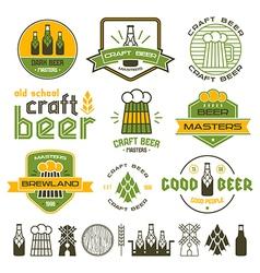 Craft beer brewery emblem vector image vector image